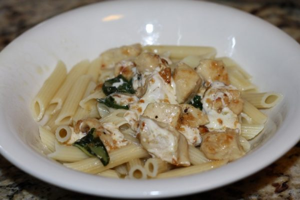 Basil Pasta and Chicken