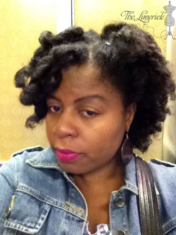 Frohawk with Curlformers on Natural Hair