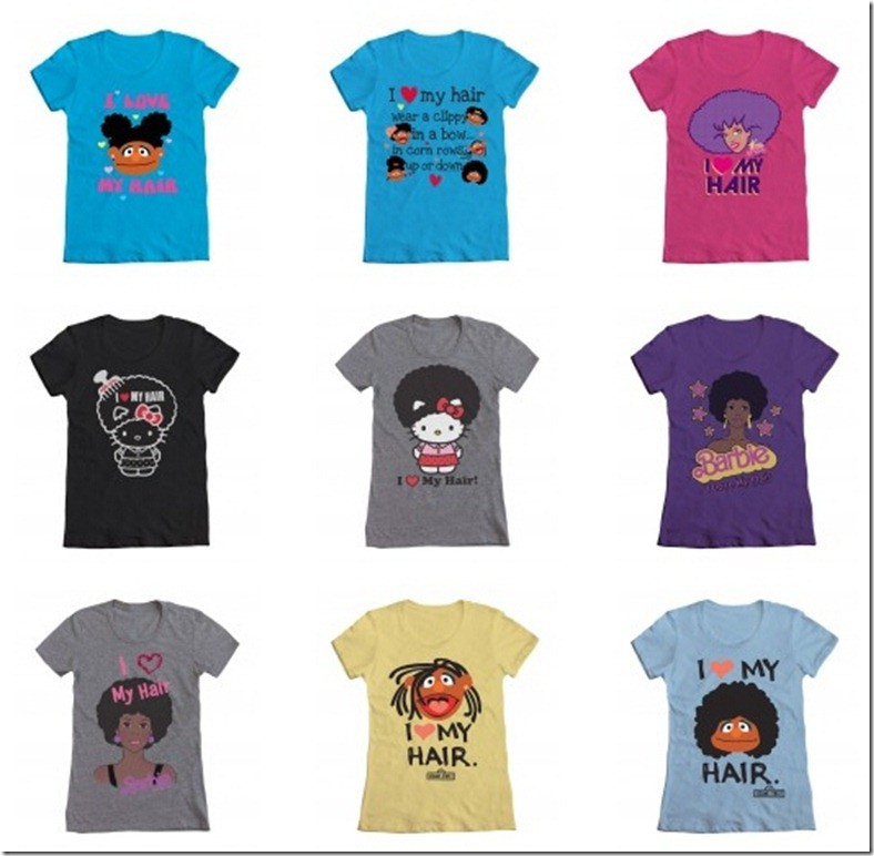 I Love My Hair - WeLoveFine - T-Shirts - Natural Hair - African-American - Black