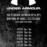 Under Armour Sample Sale NYC