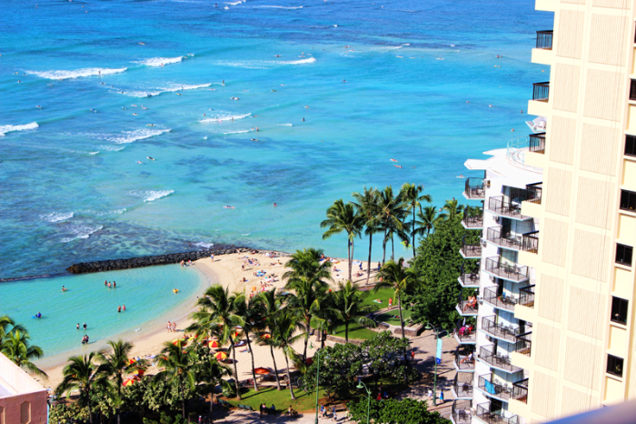 Hawaii-View-from-Pacific-Beach-Hotel
