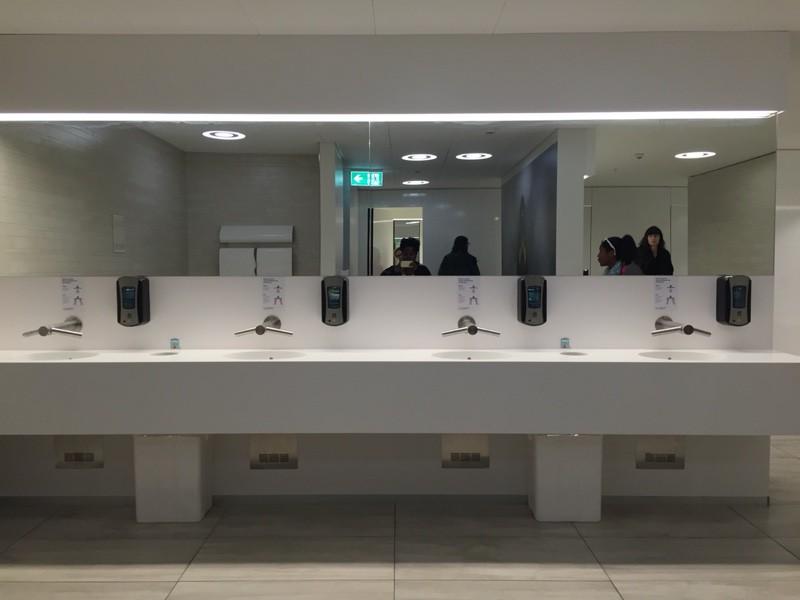 Bathrooms at Reykjavík Airport.